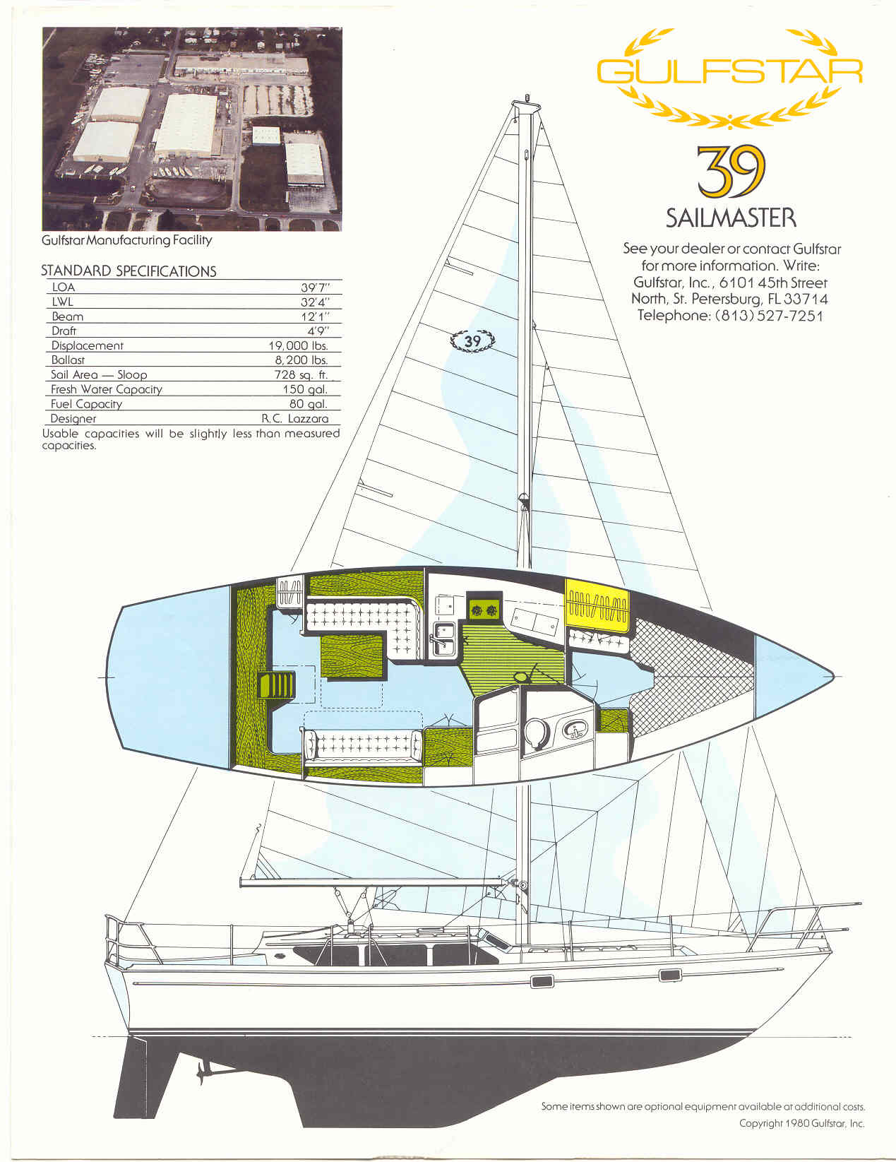 Gulfstar39Brochure pg4 boat model gulfstar sailboats  at cos-gaming.co
