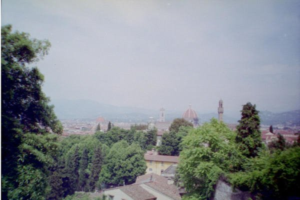 Florence - roofs from Boboli Gardens