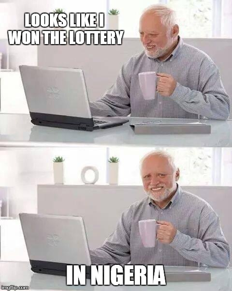 won the lottery