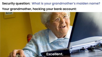 Security question - grandmother