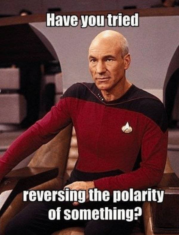 Star Trek Picard: have you tried reversing the polarity of something ?